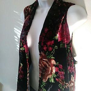 Sweaters - Velvet Rose Floral vest Duster cardigan No Size